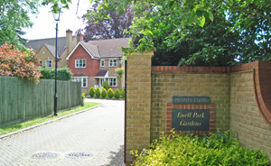 Entrance to Ewell Park Gardens
