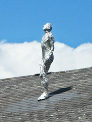 figure on roof