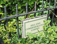 commemorative garden signage