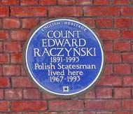 Blue plaque 8 Lennox Gardens
