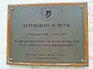 Ottershaw School plaque