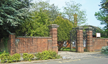 Entrance gates Shrewsbury House