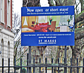 Flats to let sign