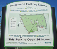 Hackey Downs map