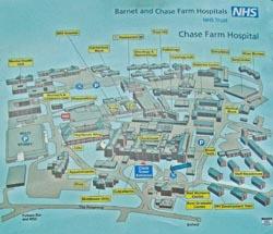 Chase Farm Hospital Map Chase Farm Hospital Map | Color 2018