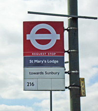 St Mary's Lodge bus stop